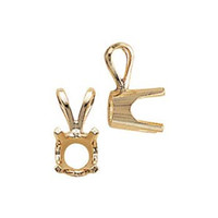 Findings pendant findings jules borel co 4 prong pendant mountings mozeypictures Image collections